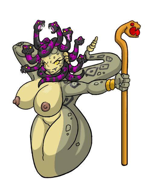 does snakes have for pubes medusa The hunter enter the gungeon